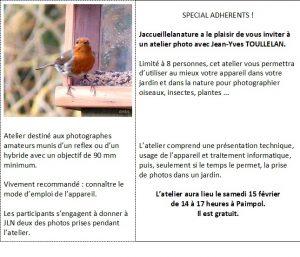 Réservé aux adhérents : Atelier photo naturaliste @ Association Jaccueillelanature